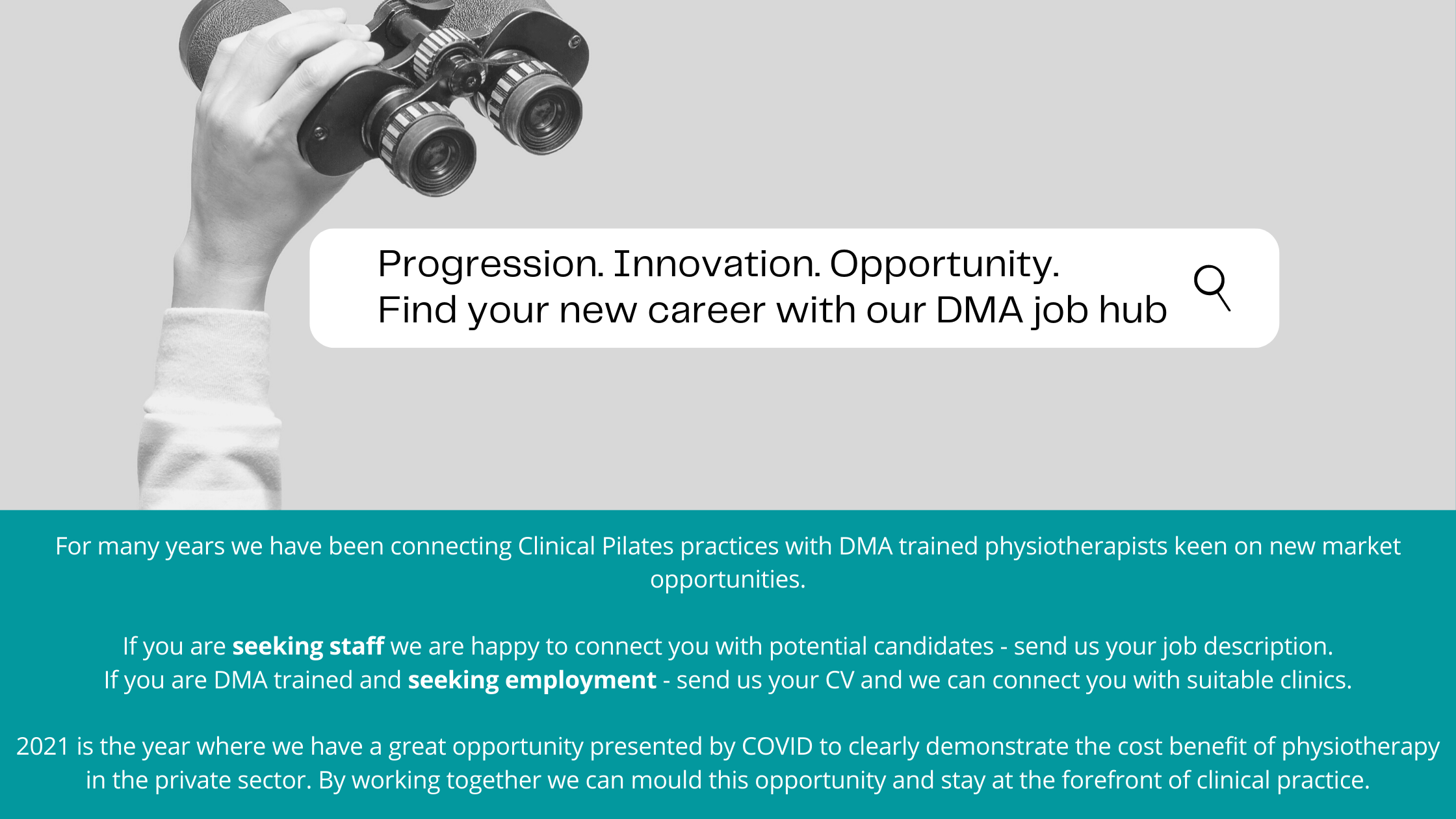 Search Physiotherapy Careers at DMA